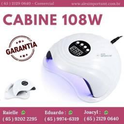 Cabine 108w Profissional Sun 5X automática Led e Uv luz unhas de gel Estufa