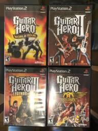 Combo Guitar Hero 1, 2, 3 e Aerosmith - Originais