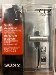 Novo - Microfone de Lapela Sony ECM-CS3