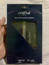 Memória ram DDR4 Crucial BALLISTIX 3200mhz 16gb (2x8)