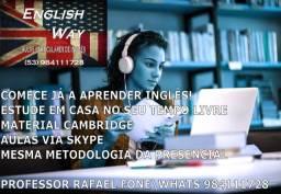 Aprenda Inglês via Skype, agende já sua aula experimental!