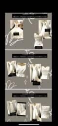 Vendo lote vestidos Novos de noivas,festas e infantis