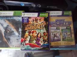 Hoje Xbox 360+2 controles+3 jogos+kinect