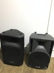 2 caixas de som profissional Ativa e passiva