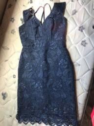 Vestido azul de festa