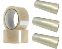 Fita Adesiva Transparente 10 Rolos 48mm x 100 Metros Promoção.