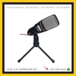 Microfone Para Video conferencia Com Tripe Pc E Celular