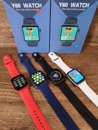 Smartwatch IWO Y60 Gamer Série 6 44mm Tela infinita, Foto na Tela e Troca pulseira