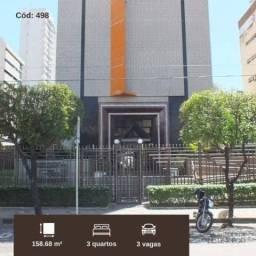 AP498- Aluga apartamento no Meireles 3 suítes, 3 vagas, um quarteirão da Av. Santos Dumont