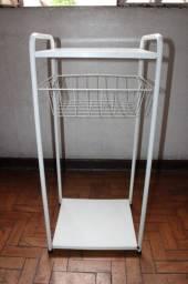 Fruteira em Ferro Branco 80cm x 38cm x 32cm