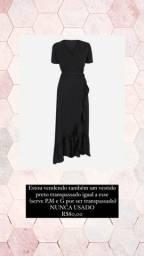 Vestido Preto Transpassado