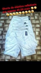 Shorts de elástico refletiveis
