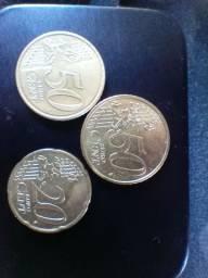 Moedas de Euro Cent antigas Bronze