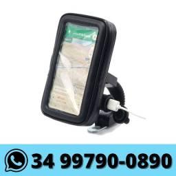 Suporte de Celular Moto Impermeável c/ USB