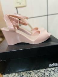 Melissa Blanca, rosa claro com detalhes com gliter- tamanho 38
