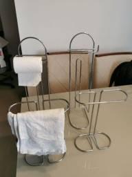 Título do anúncio: Suporte papel higiênico Suporte toalha