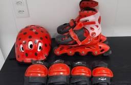 Patins ajustáveis Miraculous Ladybug