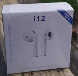 Air Pods - Fone de ouvido bluetooth - TWS i12 - Novo na caixa