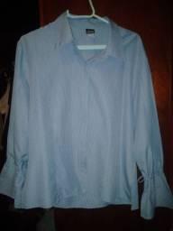 Camisa listrada feminina vintage