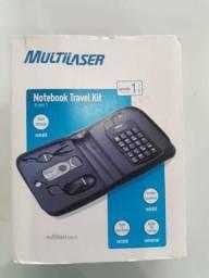 Notebook Travel Kit Mini Mouse, Tc Num. ,Fonte + Microfone E Leitor Cartão - Multilaser