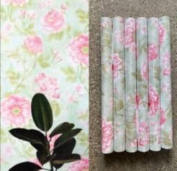 Título do anúncio: Lindo papeis parede com flores adesivo