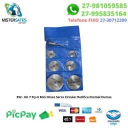392 - Promoção - Kit 7 Pçs 6 Mini Disco Serra Circular Retifica Dremel Outras