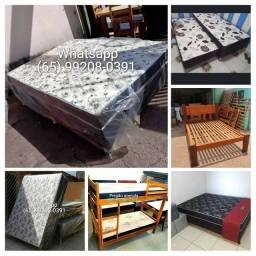 Temos cama Box casal/cama de madeira/beliche/bicama/colchão/base de box/Box Quenn
