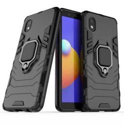 Capa 4 em 1 Anti Impacto Choque Militar Samsung A01, aceito cartão