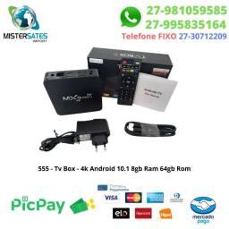 555 - Peomoção - Tv Box - Mxq Pro 4k Android 10.1 4gb Ram 64gb Rom