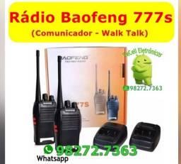 2 Rádios Comunicador Baofeng Walk Talk 16 Canais Bf 777s