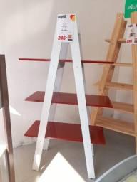 Título do anúncio: Estante Decorativa 1,80 Branco/Vermelho