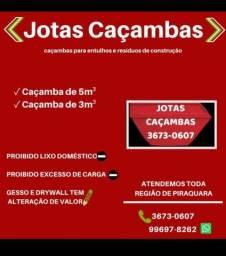CAÇAMBA DE ENTULHO EM PIRAQUARA  3673-0607