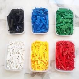 Legos 600 peças cada cor
