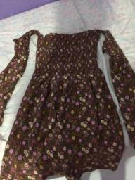 Vestido Estampado - Busto Lastéx - nunca usado - R$ 25