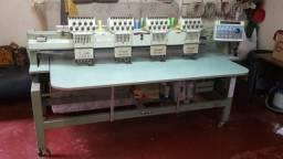 Máquina de bordar Tajima 4 cabeças 9 agulhas