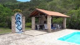 Sítio no Ribeirão da Ilha, casa 4 suítes, piscina, campo de futebol, frutas, 37.000m²
