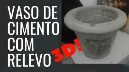Vasos Decorativos de Cimento 3D