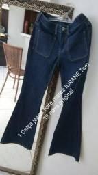 1 Calça jeans flare marca Iorane tam 38 nova original