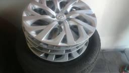 Rodas de ferro R16 5x100 com pneus