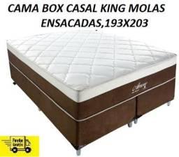 Receba No Mesmo Dia+Frete Gratis Linda Cama Box King Nova e Embalada