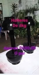 Usado, Par de Halteres com 3kg cada em PVC comprar usado  Jaboatão dos Guararapes