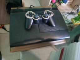PS3 destravado 1 controle vários jogos (aceito cartão)
