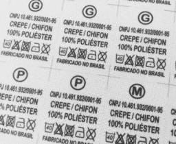Pelotas - Etiquetas de composição de tecido para roupas