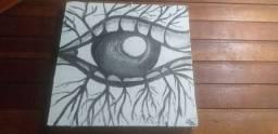 """Olho raiz ""( pintura )"