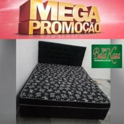 Cama Box Casal e Colchão Novo Conjugado a Pronta Entrega