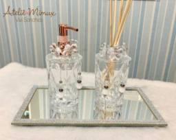 Kit luxo para lavabo (vidro)