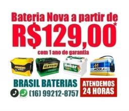 Bateria nova primeira linha a partir de R$129,00*