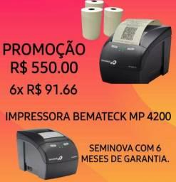 Impressora de Cupom Fiscal Térmica Bematech MP 4200 Seminova