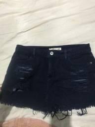 Saia jeans curta