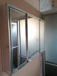 Espelho para banheiro 3 portas usado